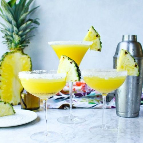 Pineapple and Vanilla Bean Martinis