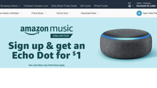 Get an Echo Dot For $1 When You Sign Up For an Amazon Music Unlimited Free Trial