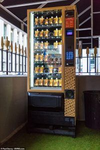 Whisky Vending Machine in London Hotel