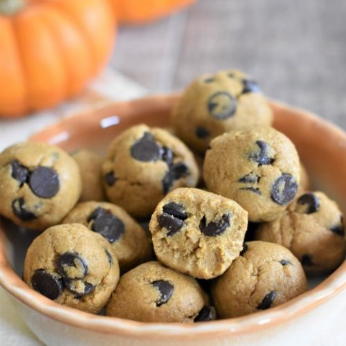 Pumpkin Cookie Dough Bites