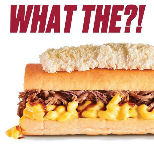The Ultimate Comfort Food! New Mac & Cheese BBQ Brisket Sandwich Is Erbert & Gerbert's Limited Time Offer