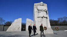 Trump Spent 2 Minutes At Martin Luther King Jr.'s Memorial, Jokes Abound