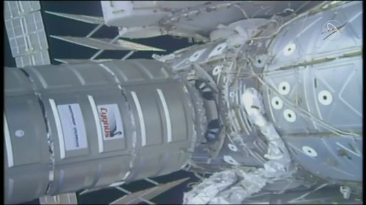 Cygnus Cargo Spaceship Makes Easter Delivery to International Space Station