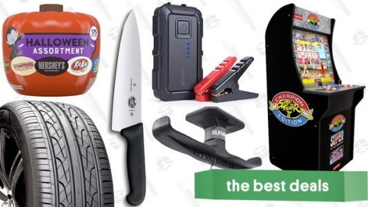 Tuesday's Best Deals: Tires, Halloween Candy, Headphone Hook, and More