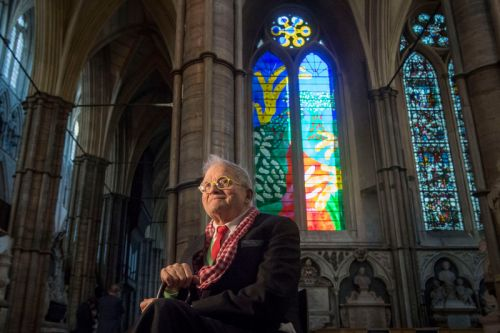 David Hockney Debuts iPad-Designed Stained-Glass Window at Westminster Abbey