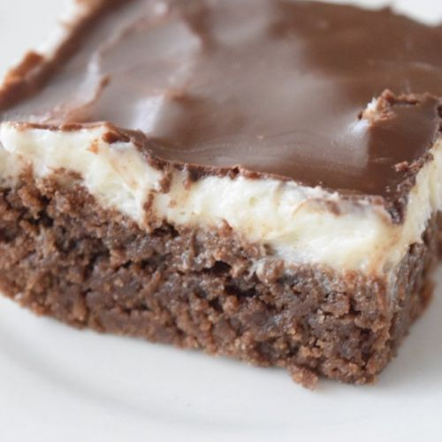 Brownies with White Frosting
