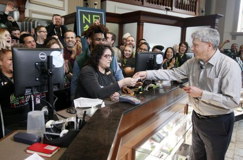 Brookline dispensary opens recreational pot sales