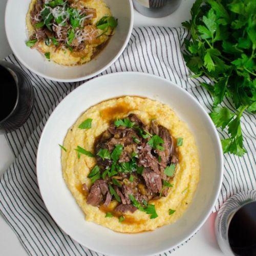 French Onion Pot Roast & Polenta