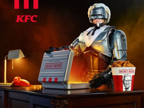 RoboCop Colonel Sanders Has Arrived to Threaten People With Kentucky Fried Chicken