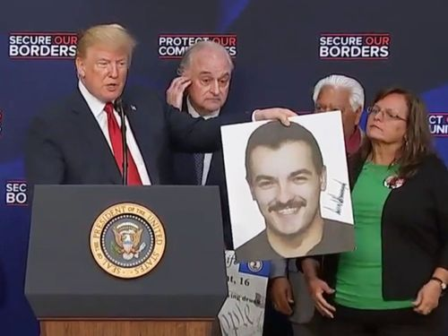 President Trump said a murder victim looked like 'Tom Selleck, except better looking' at an immigration event