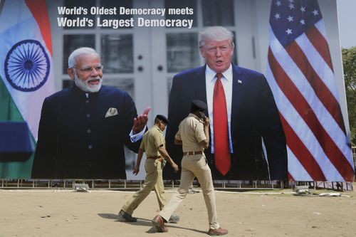 Trump loves a big crowd. He'll get one of his biggest in India