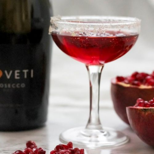 Pomegranate Ginger Prosecco