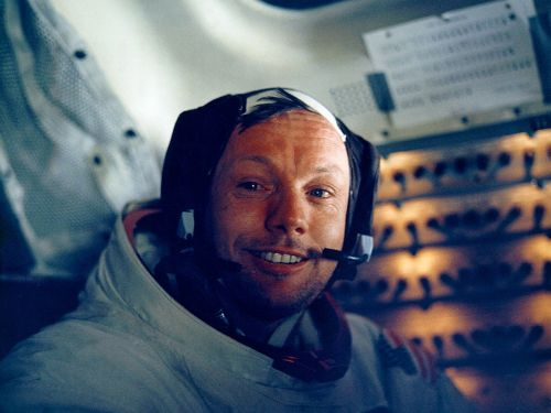 Neil Armstrong's fate after the moon landing reflects America's declining trust in the government and interest in a space program
