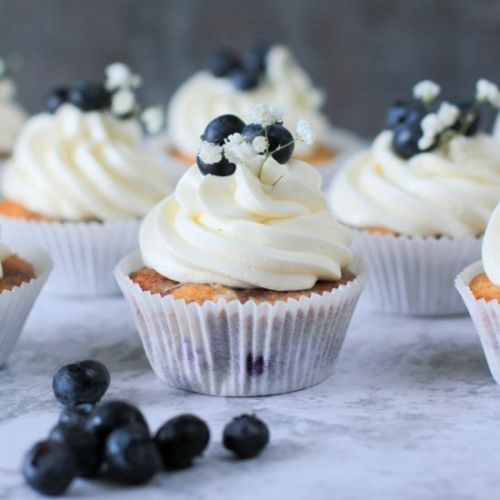 Blueberry Cupcakes with Buttercream