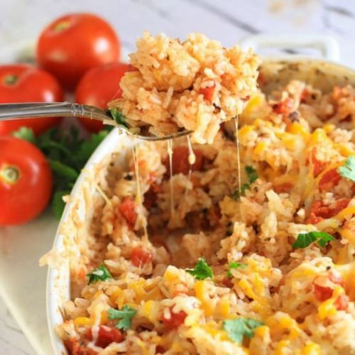 1 Pot Oven Baked Mexican Rice