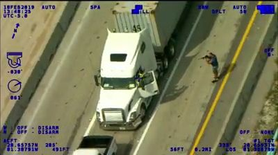 Man wanted on murder, drug charges arrested while driving semi on I-4