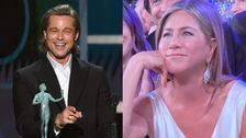 Brad Pitt Jokes About Difficult Marriages At SAGs, Camera Cuts To Jennifer Aniston