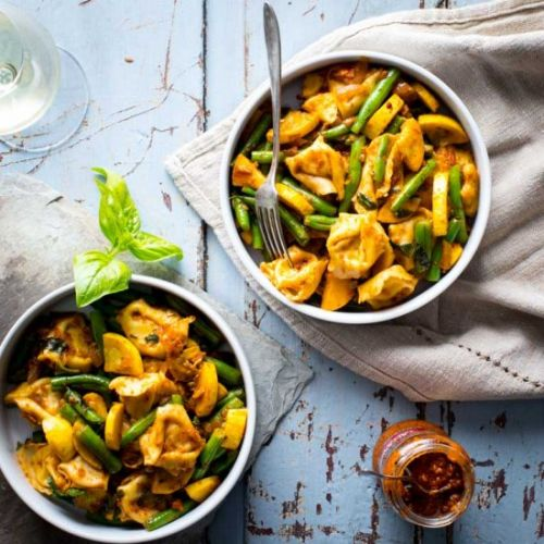 20 minute cheese tortellini and veg