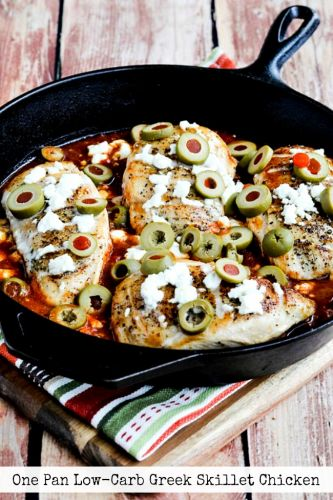 One Pan Low-Carb Greek Skillet Chicken