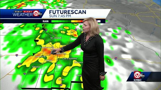 Heavy rain, thunder possible Sunday afternoon