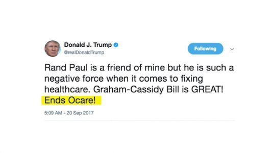 Trump's Whole Approach To Health Care Boiled Down To One Tweet
