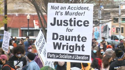 Hundreds attend justice march for Daunte Wright in Boston