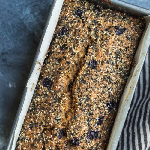 Seedy Blueberry Banana Bread