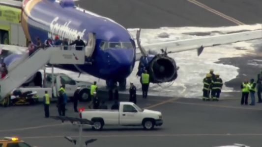 WATCH: Southwest plane makes emergency landing after major engine issue