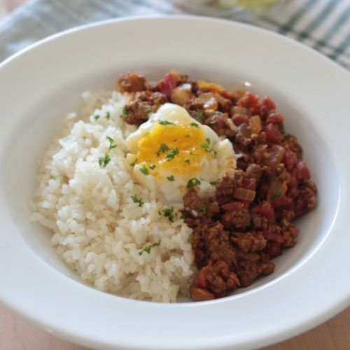 Ground Beef Curry & Rice