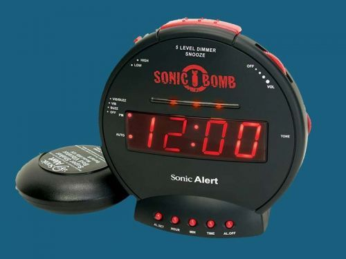 I've slept through building fire alarms, but this $30 alarm clock uses sound and vibration to get me up on time every morning