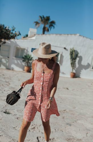 LITTLE FLOWERED DRESS IN FORMENTERA