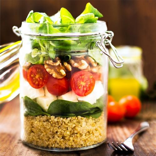 QUINOA SALAD with FETA and SPINACH