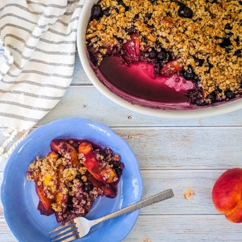 Nectarine and Blueberry Crumble