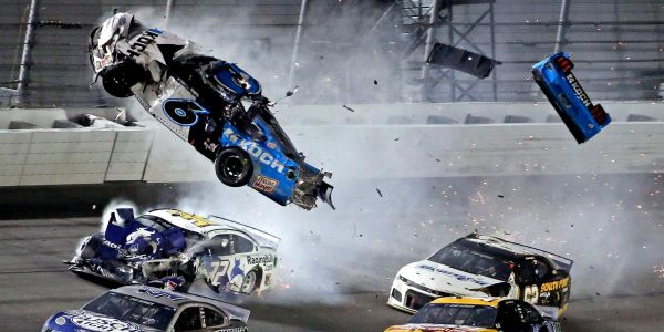 Trump shared a video of Ryan Newman's horrific Daytona 500 crash, which saw his car flip over and burst into flames