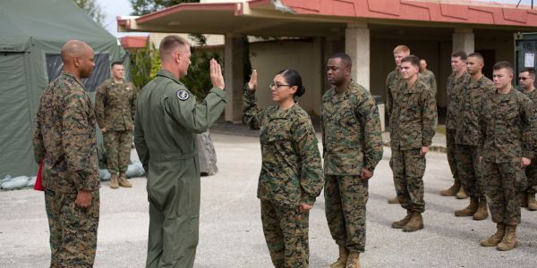 One of the Marine Corps' first women grunts might be booted out only two years after making history