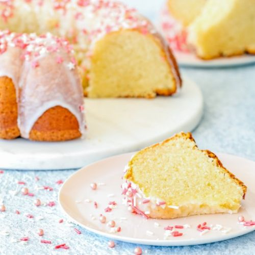 Easy Eggless Vanilla Pound Cake