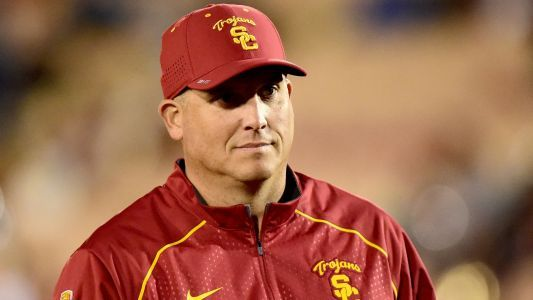 USC coach Clay Helton deflected questions on job security after loss to UCLA