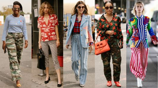 Showgoers Experimented With Mismatched Prints On Day 6 of New York Fashion Week