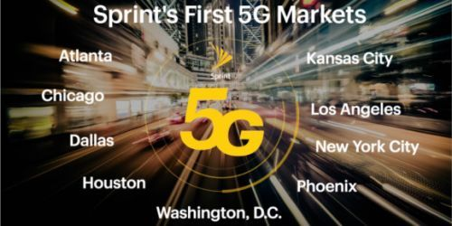 Sprint adds New York City, Phoenix, and Kansas City to its initial 5G rollout list