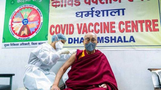 'Very, very helpful': Tibetan spiritual leader Dalai Lama gets vaccine shot