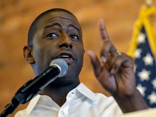 Video shows Andrew Gillum, who could become Florida's first Democratic governor in 2 decades, cleaning up damage from Hurricane Michael