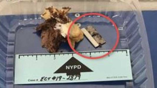 NYPD officer bites into sandwich containing razor blade
