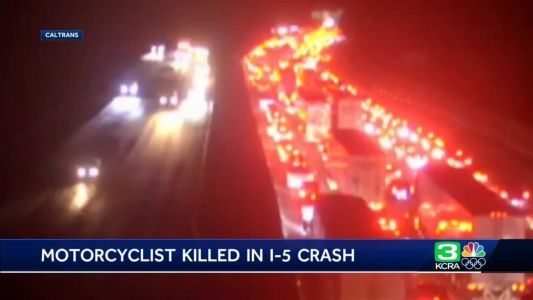 Motorcyclist dies after hit by two cars on I-5, CHP says