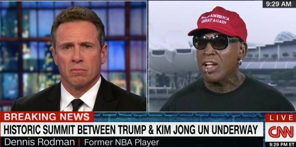 'I got so many death threats': Dennis Rodman launched into an emotional monologue on CNN during Trump's meeting with Kim Jong Un