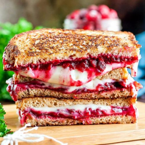 Vegan Cranberry Grilled Cheese