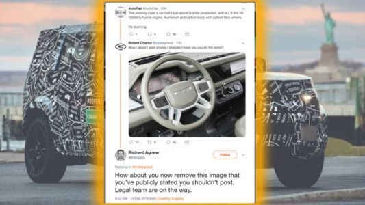 2020 Land Rover Defender's High-Tech Dash Revealed In Hilarious Twitter Fight