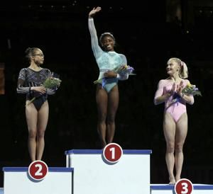 McCusker close to Biles in bars, and that will have to do