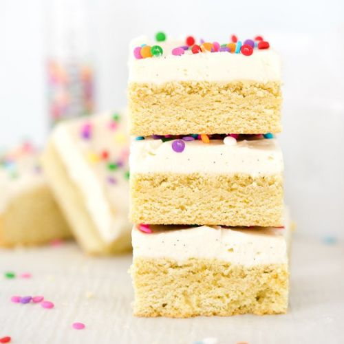 Vanilla Frosted Sugar Cookie Bars