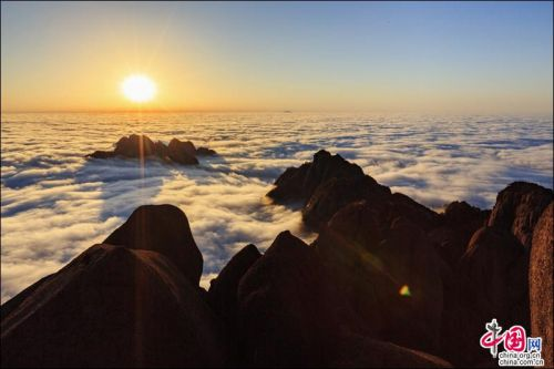 Huangshan shrouded by sea of clouds