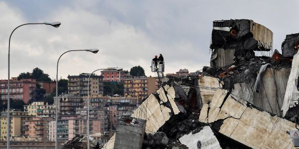 Rescuers worked through the night to find survivors after the Italy bridge collapse that killed 37 - and think they could still find people alive in the rubble